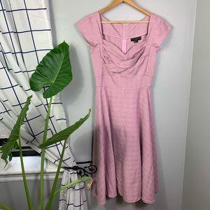 Stop Staring! Pink Vintage Inspired Dress